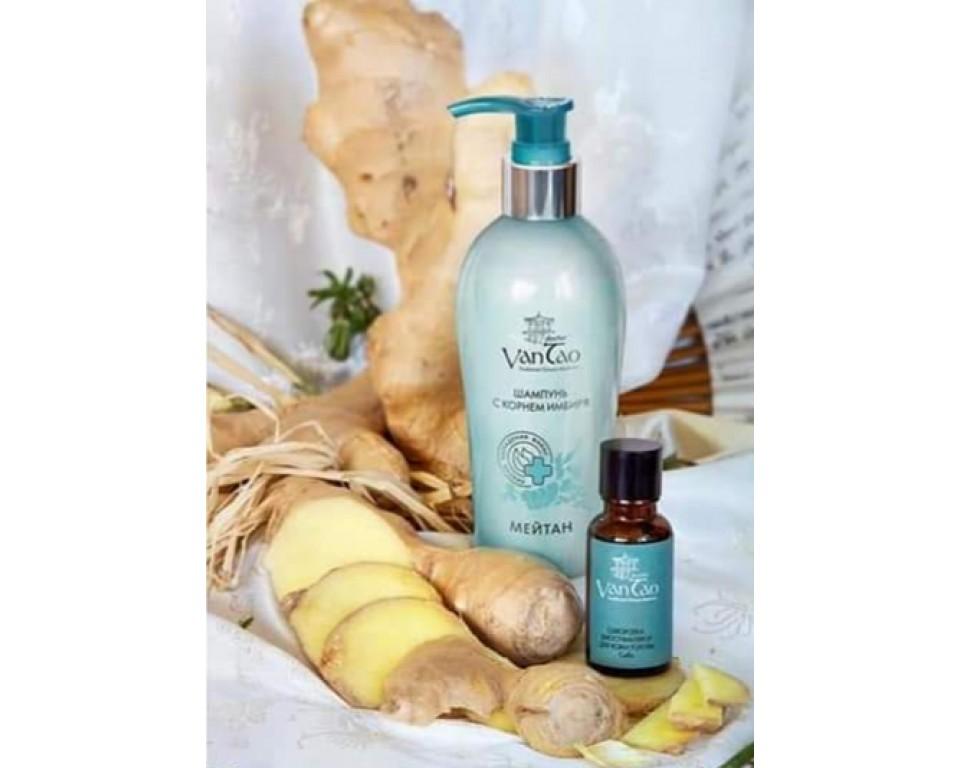 Šampūnas su imbiero šaknimi (nuo plaukų slinkimo) 200 ml.
