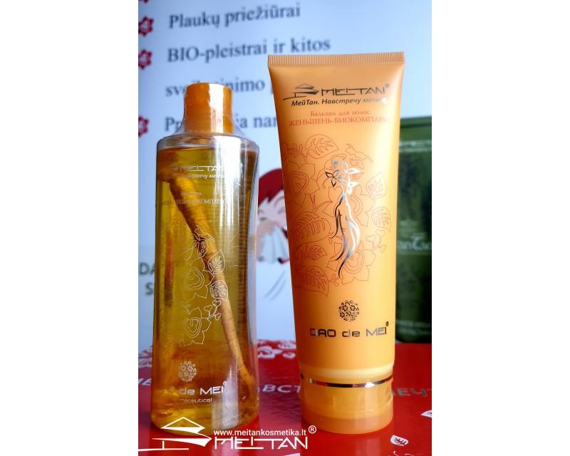 Bio-kompleksas su ženšeniu, šampūnas ir balzamas, 300ml./230ml. (konsultant. tanai: 11.56)