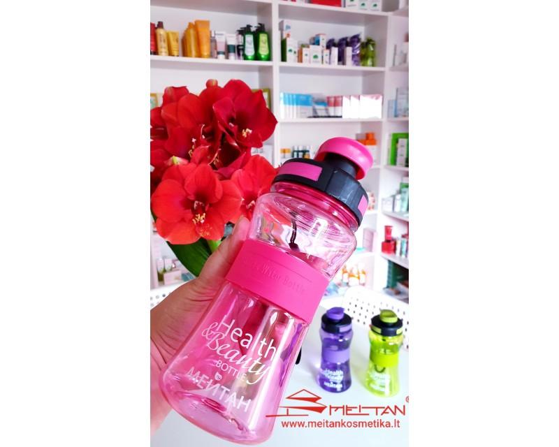 """Gertuvė vandeniui """"Health& Beauty"""",   550 ml.  (rožinė)"""