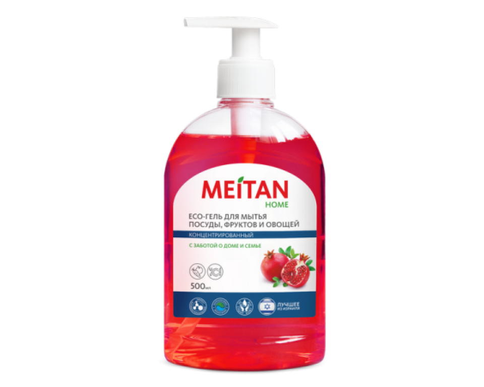 Eco Gelis su granatų ekstraktu indų, vaisių ir daržovių plovimui - KONCENTRATAS 500 ml. (konsultant. tanai: 4,30)